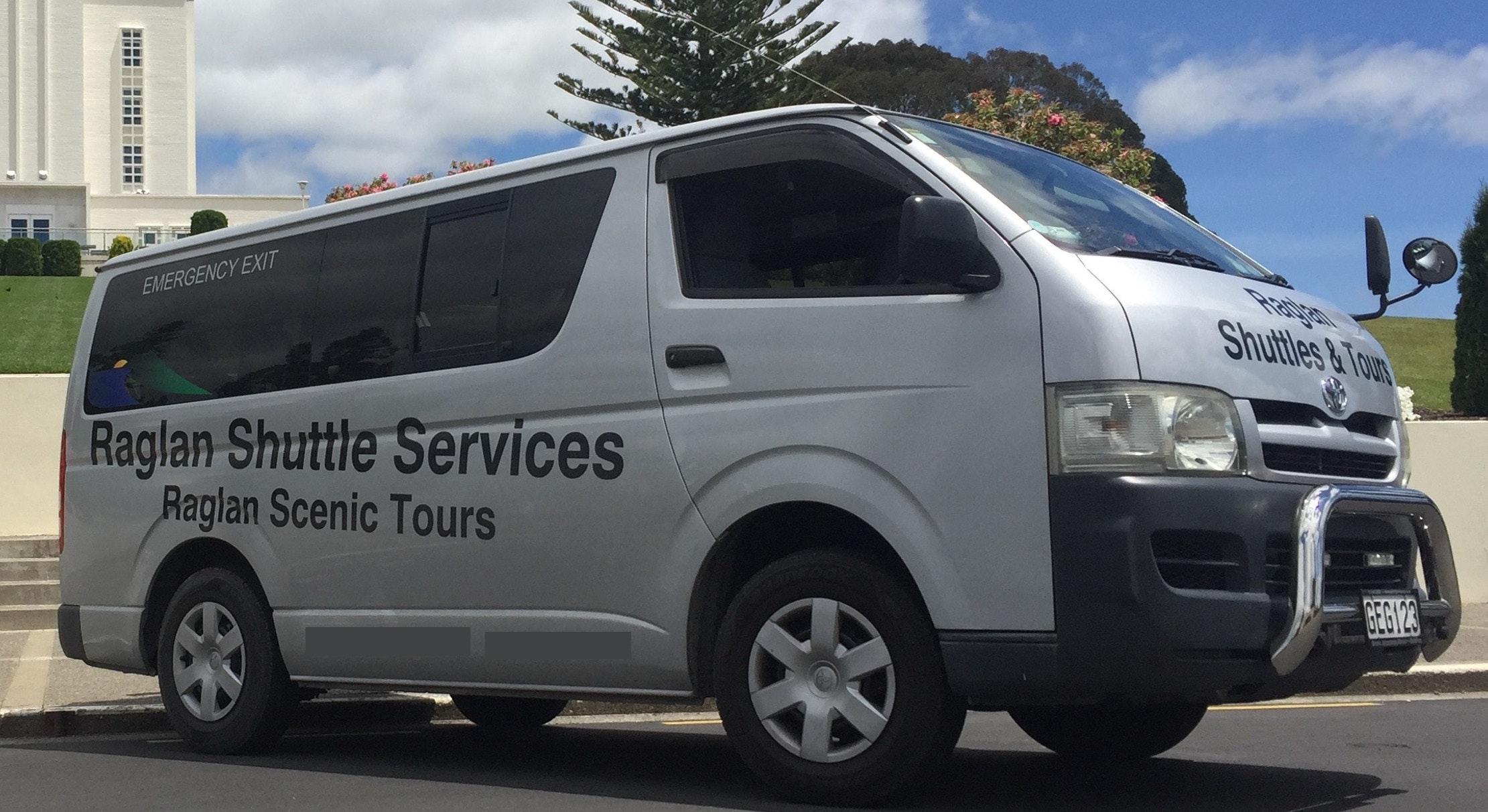 Raglan Scenic Tours & Raglan Shuttle Service vehicle 1
