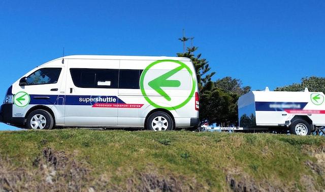 Super Shuttle Airport Shuttle Bus