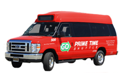 GO Prime Time Shuttle vehicle 1