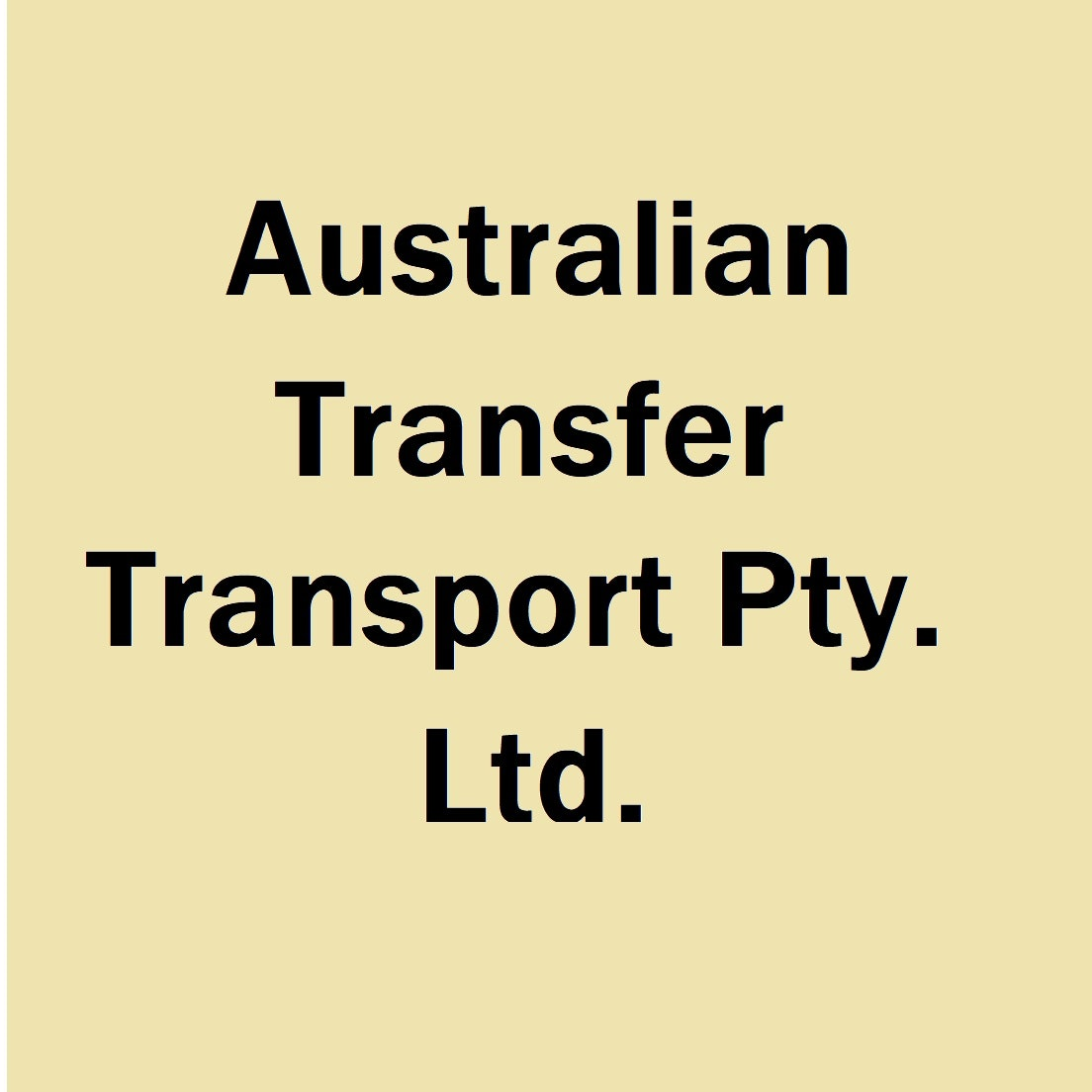 Australian Transfer Transport Pty. Ltd.