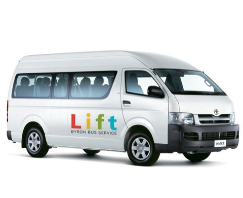 Lift Byron Bus Service vehicle 1